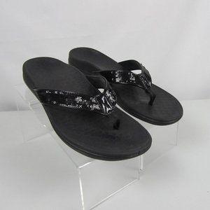 Vionic Orthaheel Tide Black Women Size 9 Sandals